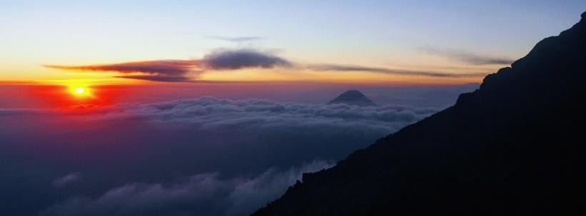 Sunrise Hiking Volcano Guatemala