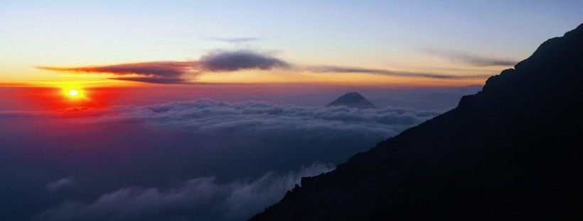 Sunrise Hiking Volcano Guatemala